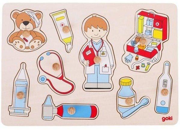 Układanka z uchwytami - w gabinecie u lekarza - Goki