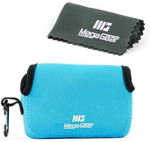 MegaGear Neoprenowa torba na aparat z karabińczykiem do Samsung WB350F aparat cyfrowy (niebieski)