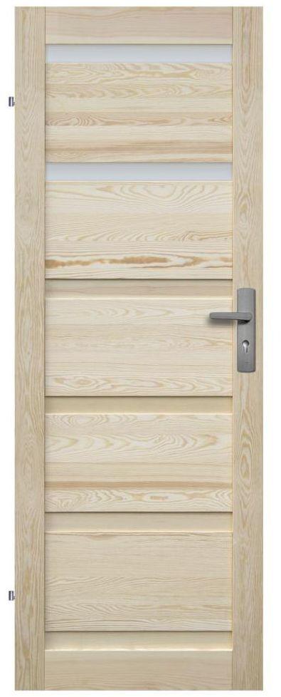 Skrzydło drzwiowe łazienkowe drewniane GENEWA 80 Lewe RADEX