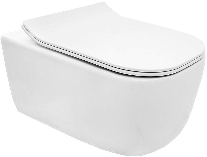 Miska WC podwieszana z deską Mateo Rimless Rea (REA-C1258)