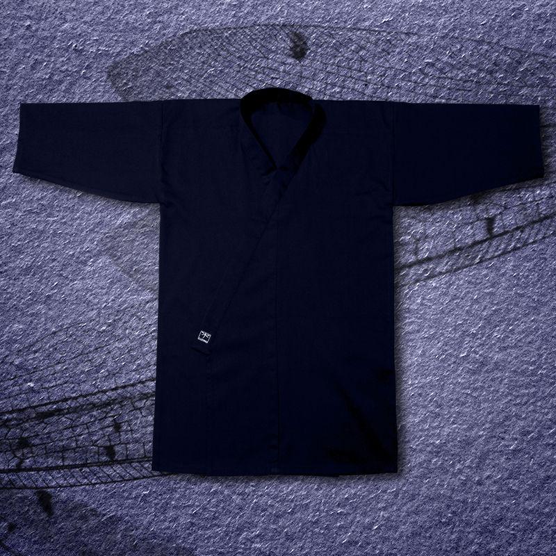 kimono do iaido TONBO - HEAVY, granatowe (szt.jedwab-poliester)