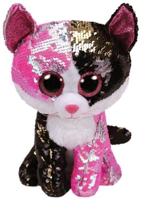 TY Pupilki Beanie Boos Malibu cekinowy kot 15cm