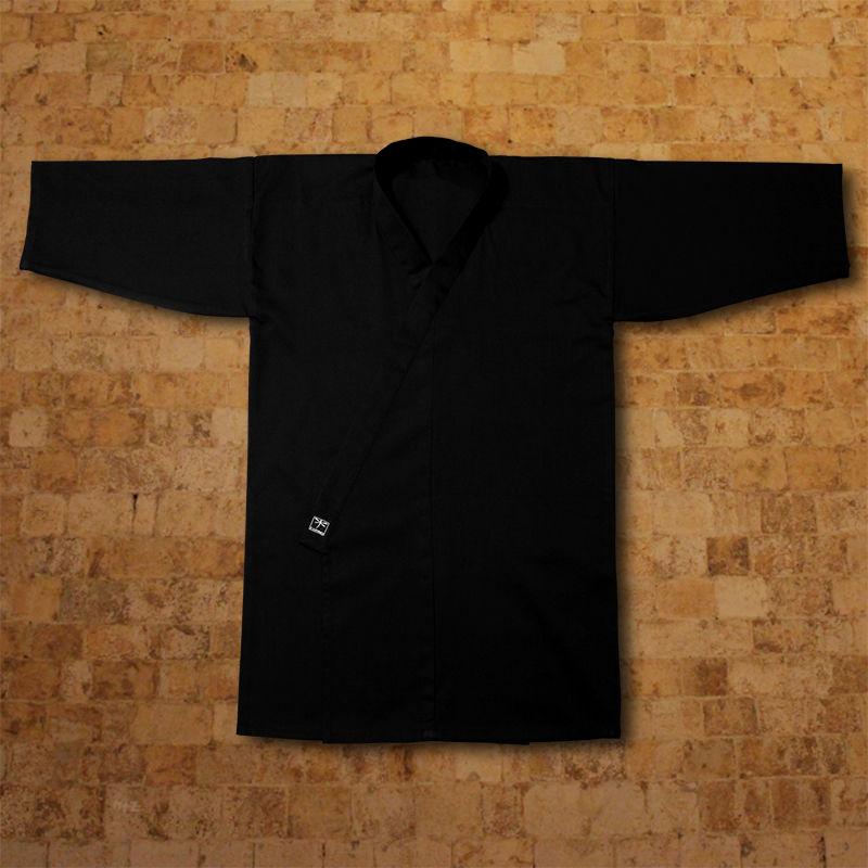 kimono do iaido TONBO - PREMIUM, czarne (bawełna)