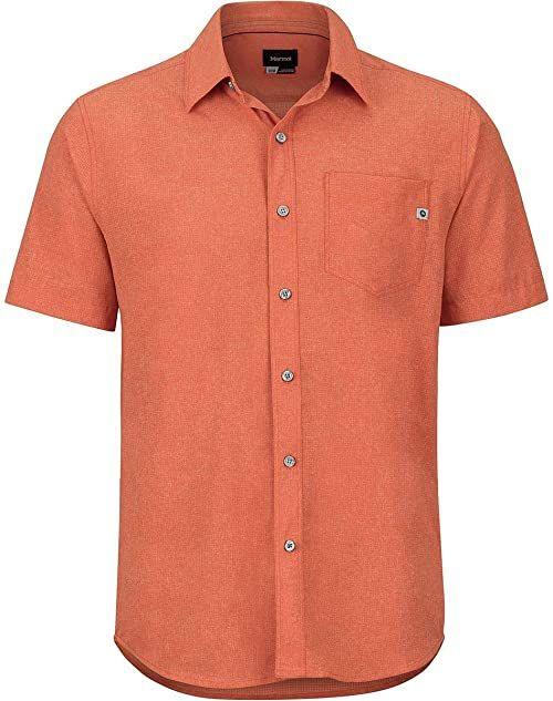 Marmot Aerobora męska koszula z krótkim rękawem różowy Picante S