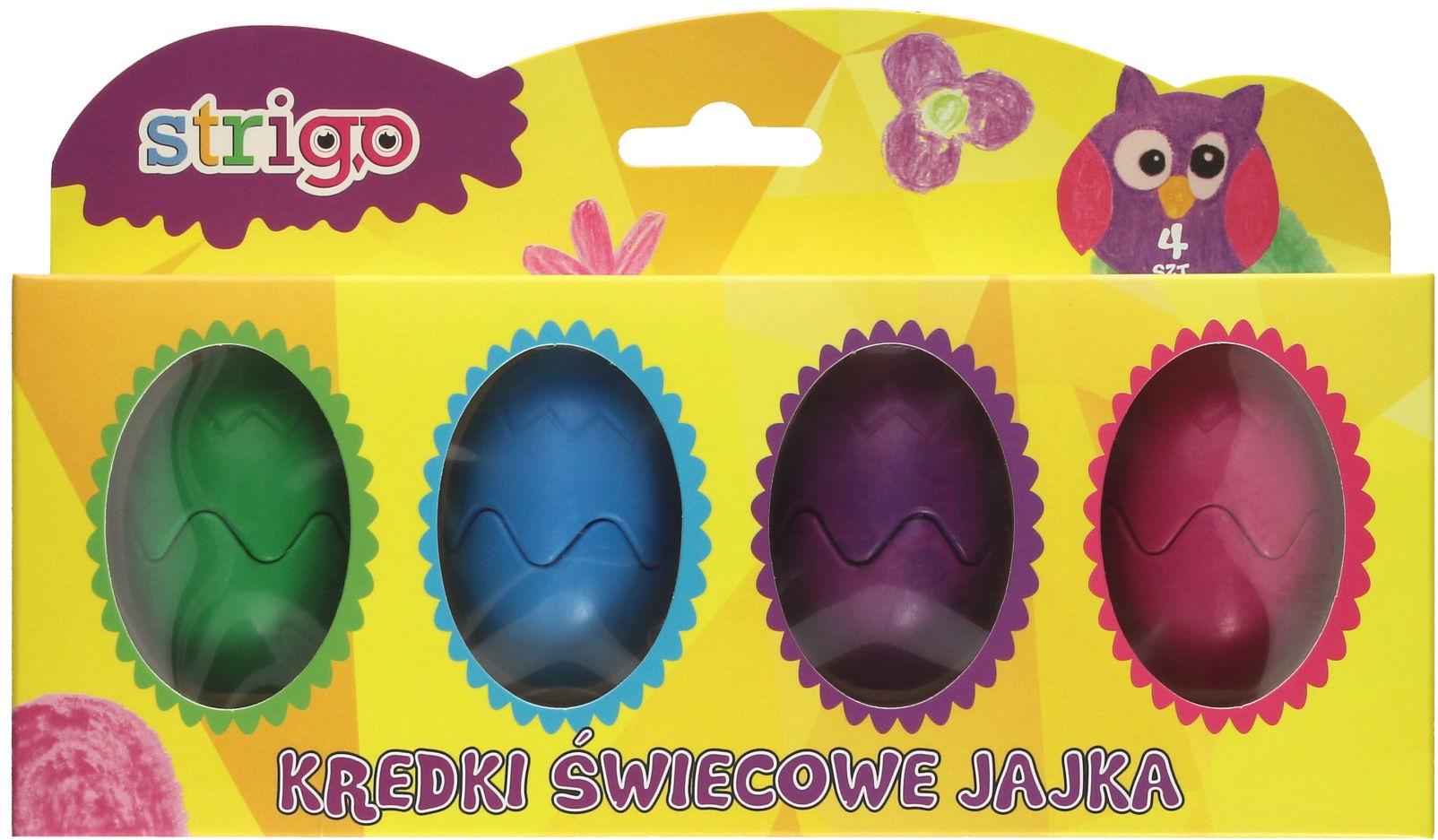 Kredki świecowe jajka 4 kol Strigo SSC045
