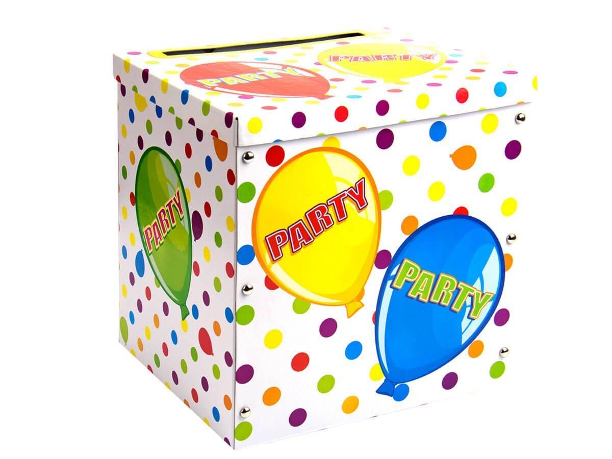 Pudełko na koperty z życzeniami, prezentami w baloniki - 1 szt.