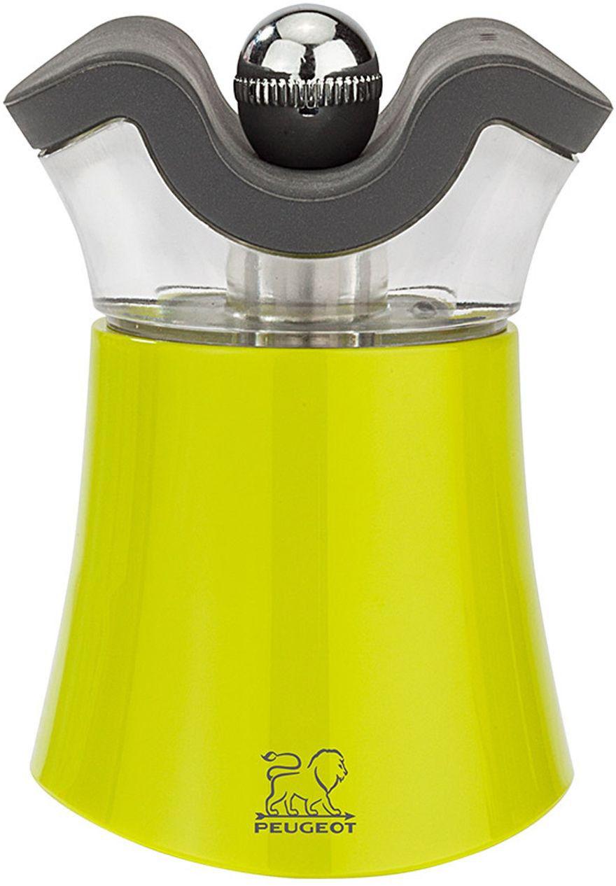 Młynek do pieprzu z solniczką z akrylu i tworzywa ABS zielony 80 h Peugeot PG-30889