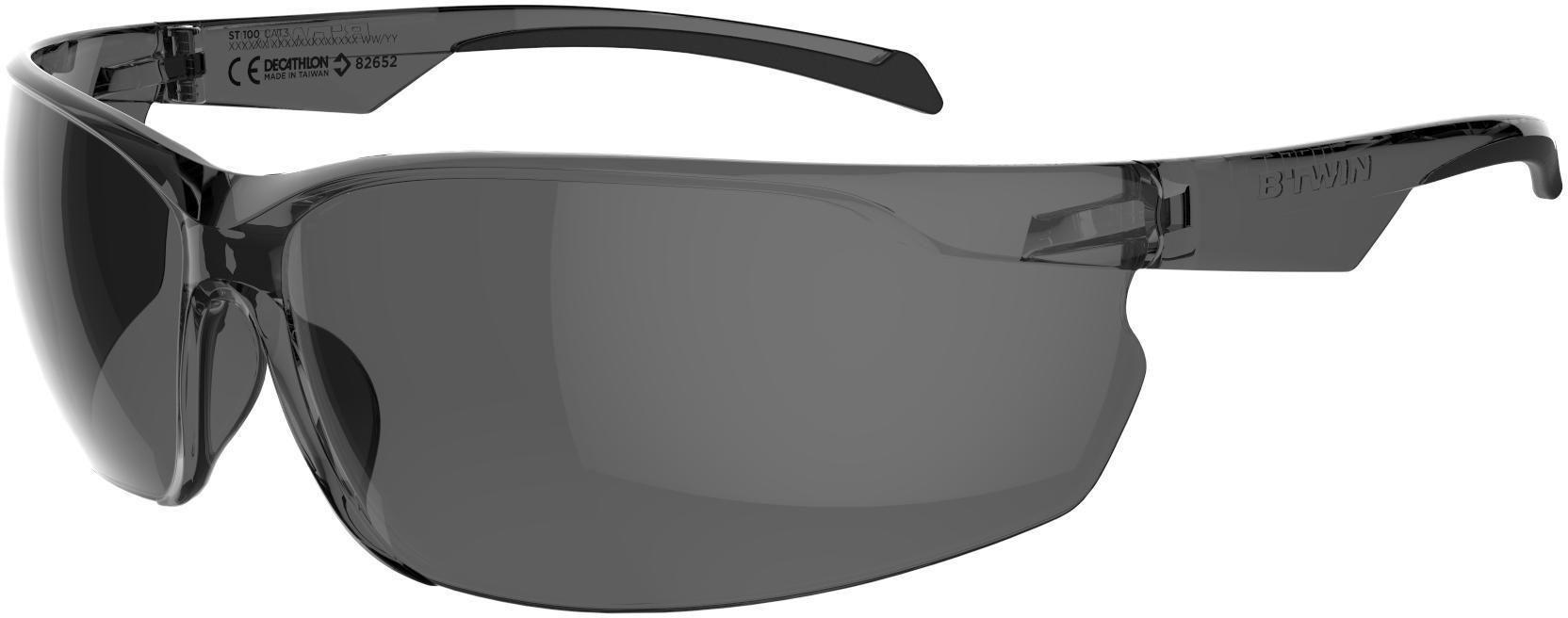Okulary na rower MTB ST100 szare KAT. 3