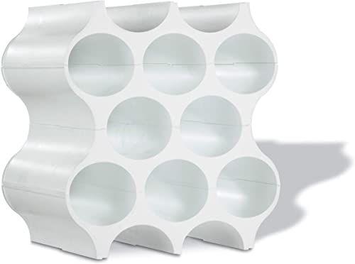 koziol Set-up stojak na butelki / stojak na wino, jeden zestaw 4 sztuk, modułowy, jednolity biały