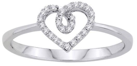 Staviori pierścionek. 27 diamentów, szlif brylantowy, masa 0,11 ct., barwa h, czystość si2. białe złoto 0,585. średnica korony ok. 6 mm.