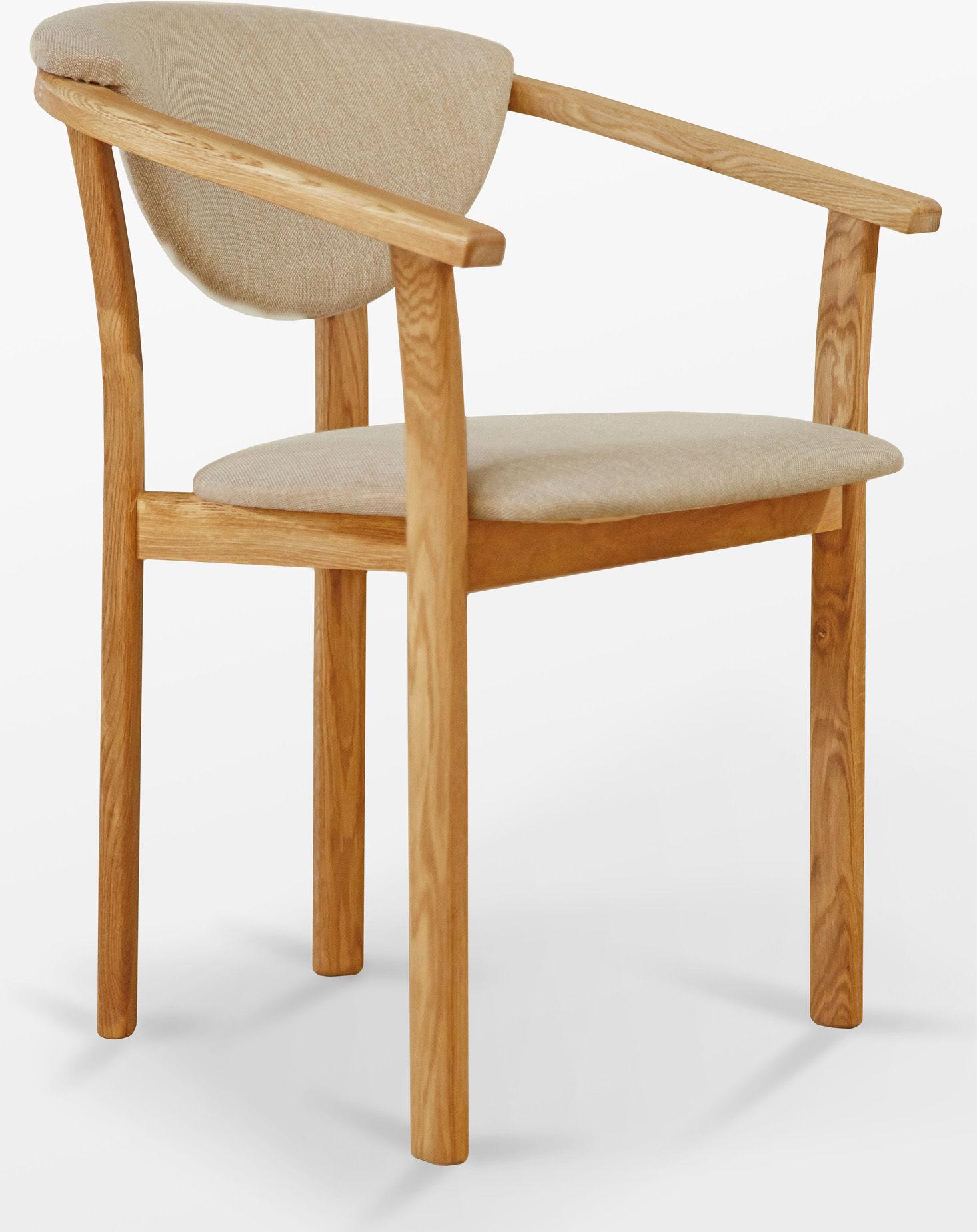 Fotel dębowy M tapicerowany