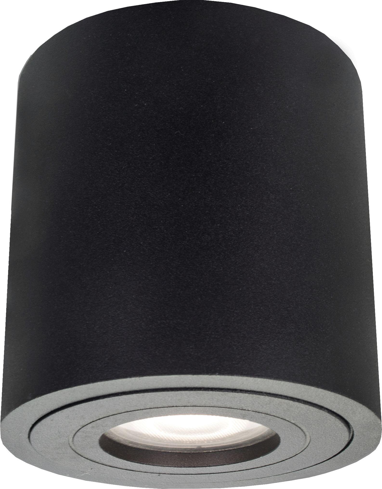 Light Prestige Faro LP-6510/1SM XL IP65 BK oprawa stropowa natynkowa metalowa czarna tuba 1x50W GU10 IP65 9,5cm