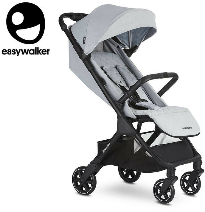 easywalker - Easywalker Jackey Kompaktowy, Samoskładający Się Wózek Spacerowy z Torbą Transportową Pebble Grey