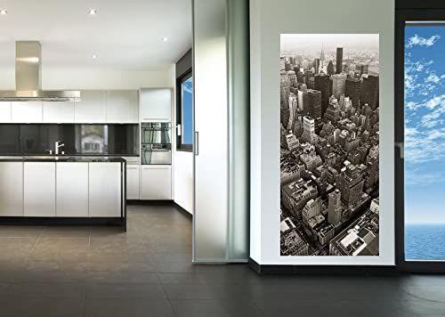 AG Design FTV 0299 miasto z perspektywy ptaków, papierowa fototapeta - 90 x 202 cm - 1 część, papier, wielokolorowy, 0,1 x 90 x 202 cm