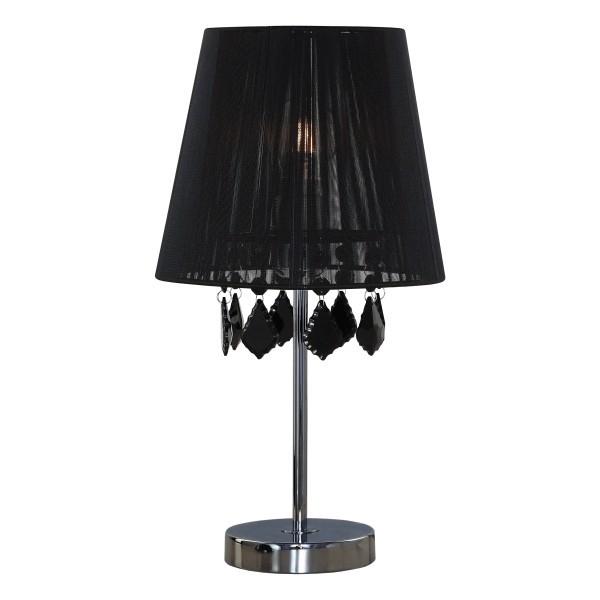 Lampa biurkowa Mona czarna mała kryształki LP-5005/1TS - Light Prestige Do -17% rabatu w koszyku i darmowa dostawa od 299zł !