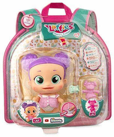 Laffies Lily Interaktywna lalka z prawdziwym uśmiechem, IMC Toys
