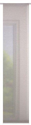 Home fashion poprzeczne paski w optyce bambusowej FABRICE, tkanina, kamień, 245 x 60 cm