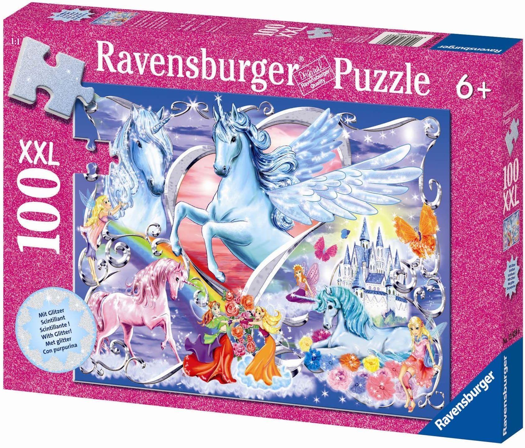 Ravensburger Puzzle dziecięce 13928 - najpiękniejsze jednorożce - 100 części