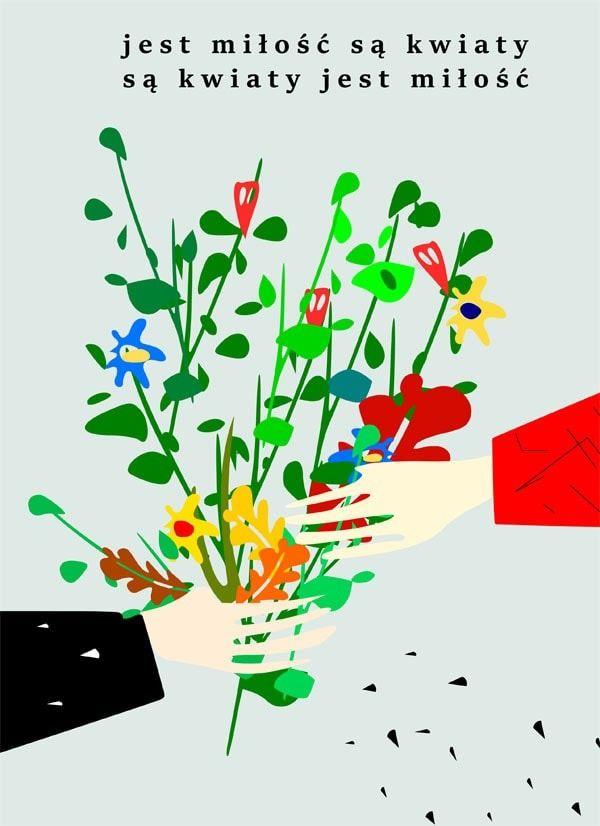 Są kwiaty jest.. - plakat wymiar do wyboru: 40x50 cm