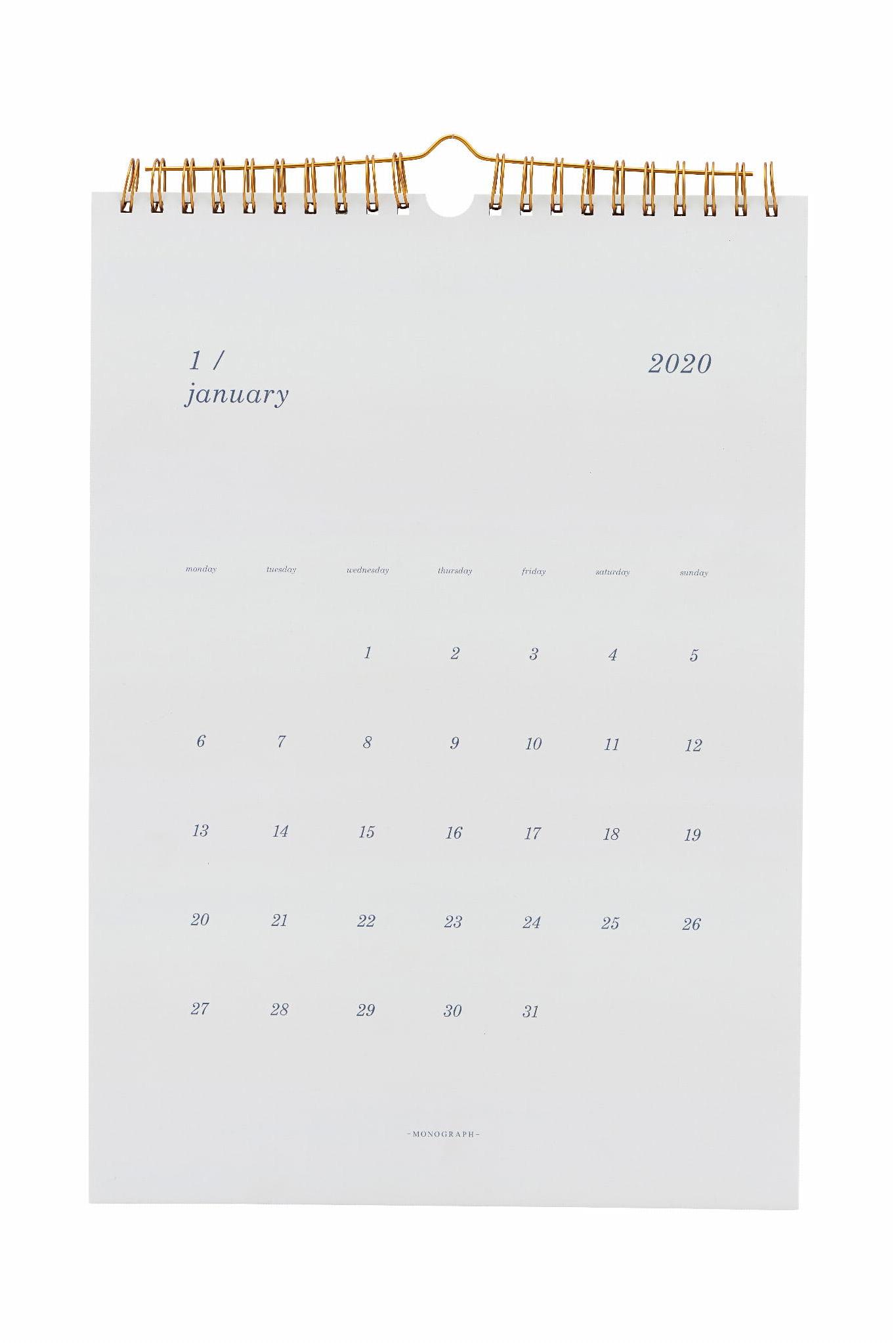 Kalendarz Notatnik 2020 Monograph