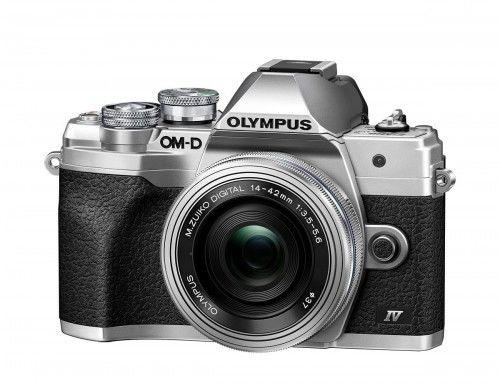 Aparat Olympus OM-D E-M10 Mark IV + 14-42 EZ Srebrny Cashback 350zł