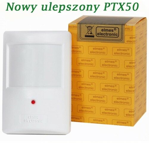 PTX50 Czujnik bezprzewodowy PIR - Elmes Electronic