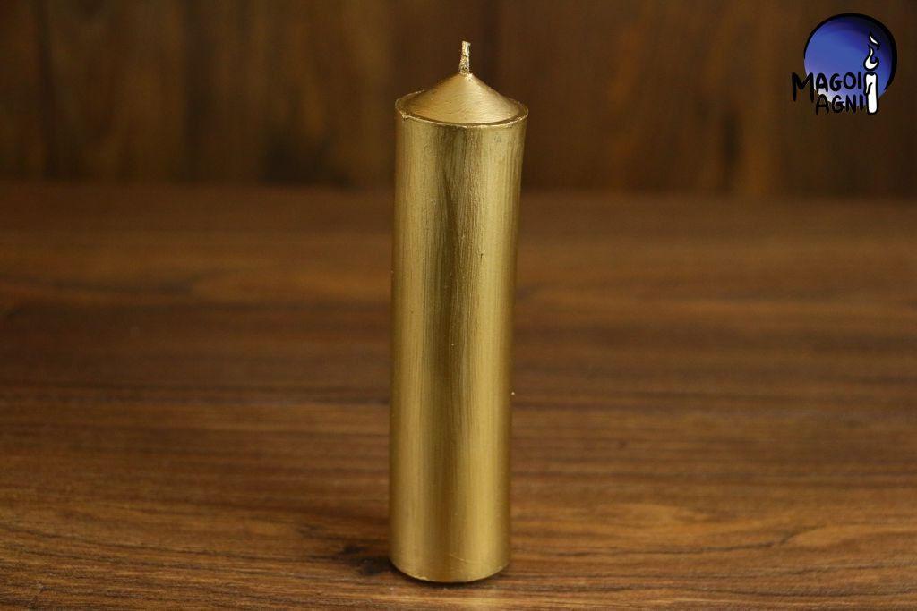 Świeca z wosku 11x3cm - złota