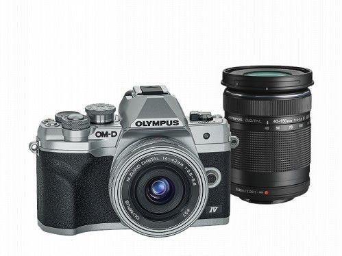 Aparat Olympus OM-D E-M10 Mark IV + 14-42 EZ + 40-150mm R Srebrny