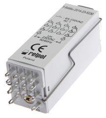 Przekaźnik czasowy 4P 6A 1sek-100h 230V AC załączanie na nastawiony czas T-R4Wu-2014-23-5230 854017