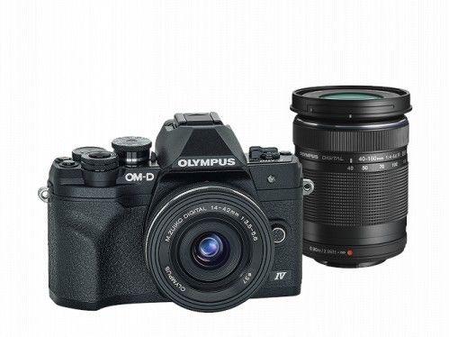 Aparat Olympus OM-D E-M10 Mark IV + 14-42 EZ + 40-150mm R Czarny