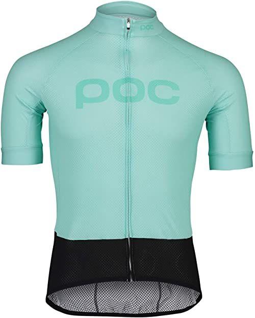 POC Męski T-shirt z logo Essential Road Lt Fluorite Green/Fluorite Green XL