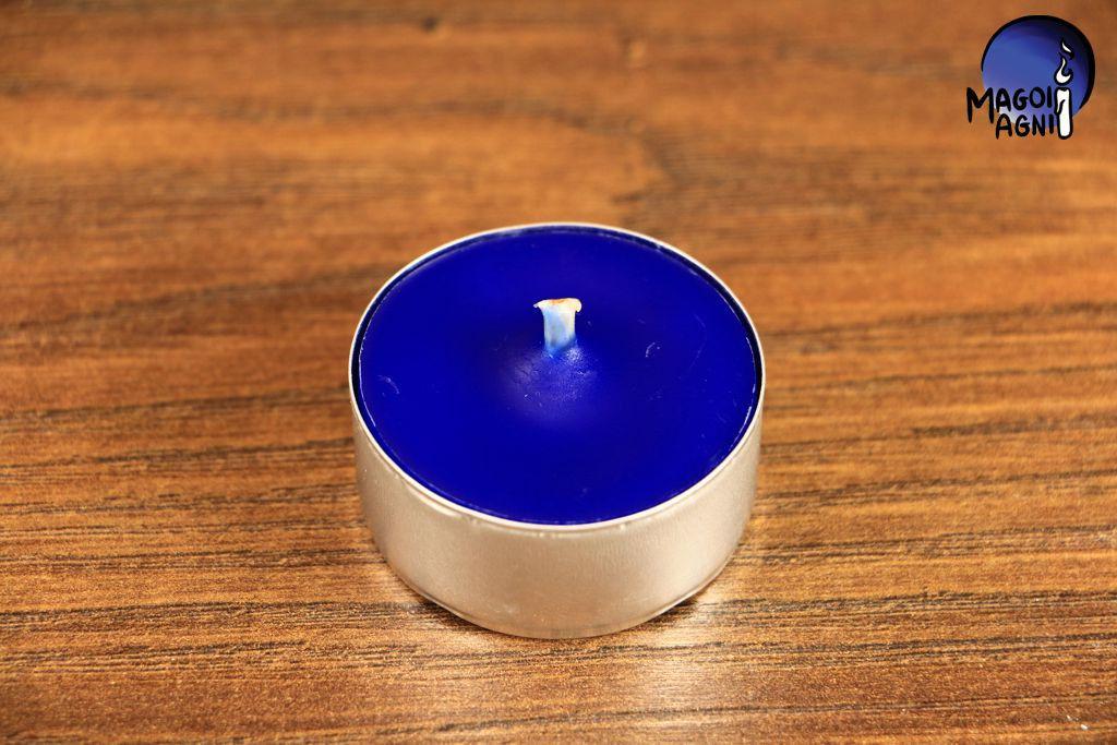 Tealight - świeca z wosku herbaciarka - niebieska
