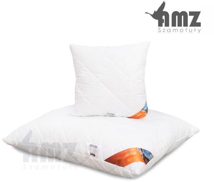 Poduszka antyalergiczna AMZ Antystres Active, Rozmiar - 50x60, Poduszka - pikowana, Kolor - biały w delikatną kratkę NAJLEPSZA CENA, DARMOWA DOSTAWA