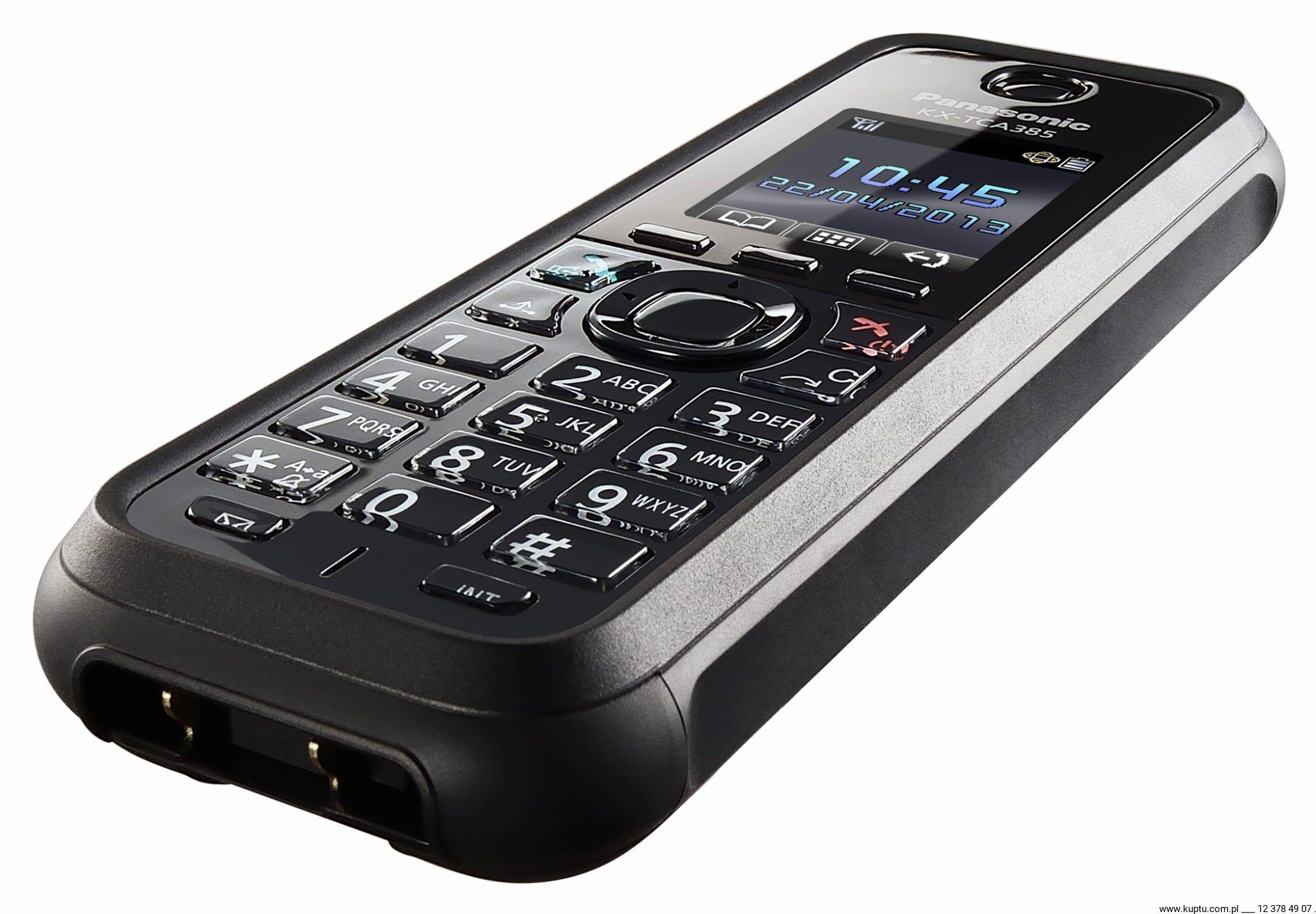 KX-TCA385CE systemowa słuchawka DECT Panasonic IP65