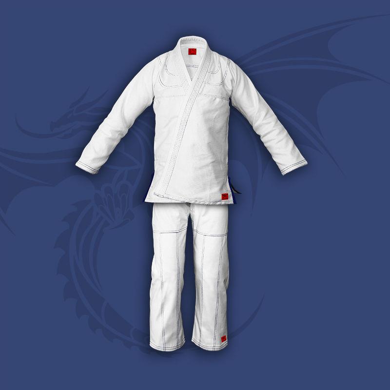 kimono do jiu-jitsu TONBO - JUNIOR, białe, 350g/m2
