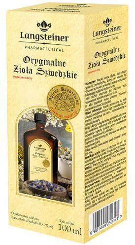 Langsteiner Oryginalne Zioła Szwedzkie płyn na trawienie 100 ml