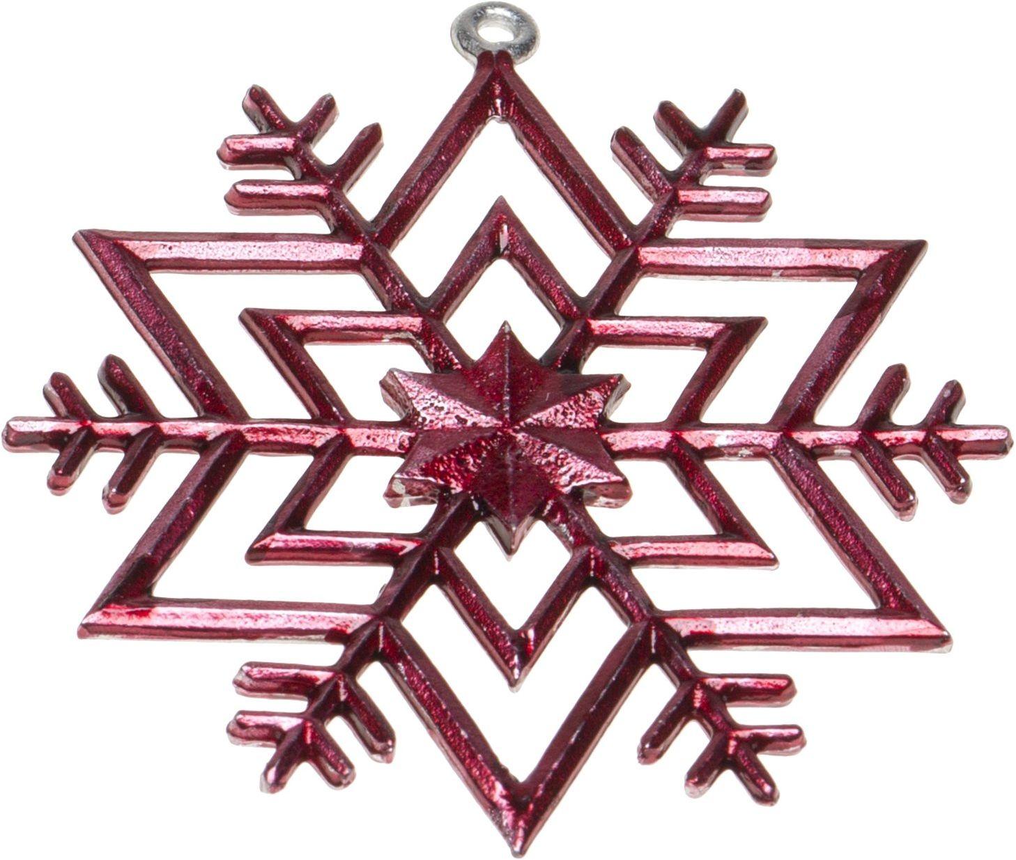 Schnabel-Zinn Gwiazda zawieszka bożonarodzeniowa kolorowa, czerwona