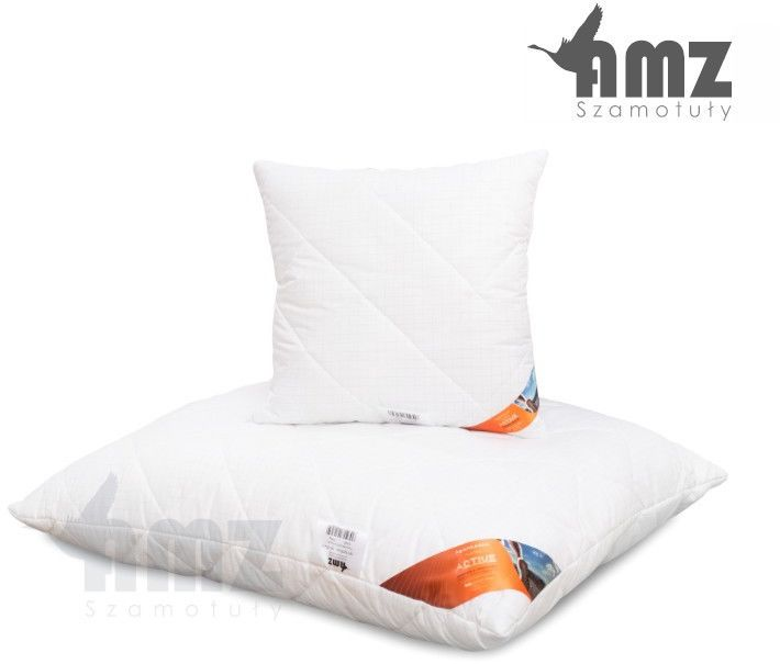 Poduszka antyalergiczna AMZ Antystres Active, Rozmiar - 50x70, Poduszka - pikowana, Kolor - biały w delikatną kratkę NAJLEPSZA CENA, DARMOWA DOSTAWA