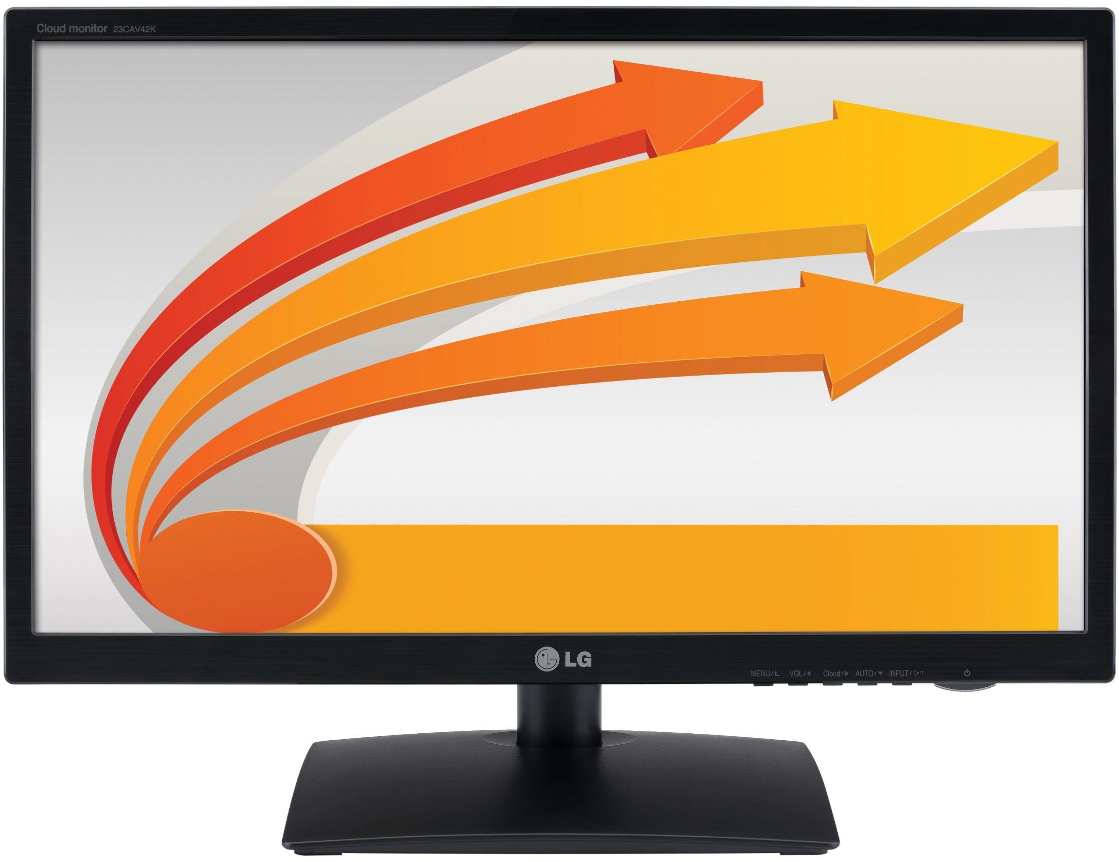 LG 23CAT42K-B.AEU 58,4 cm (23 cali) monitor LED (DVI-D, sieć, VGA/D-Sub, USB, czas reakcji 14 ms, kolor czarny
