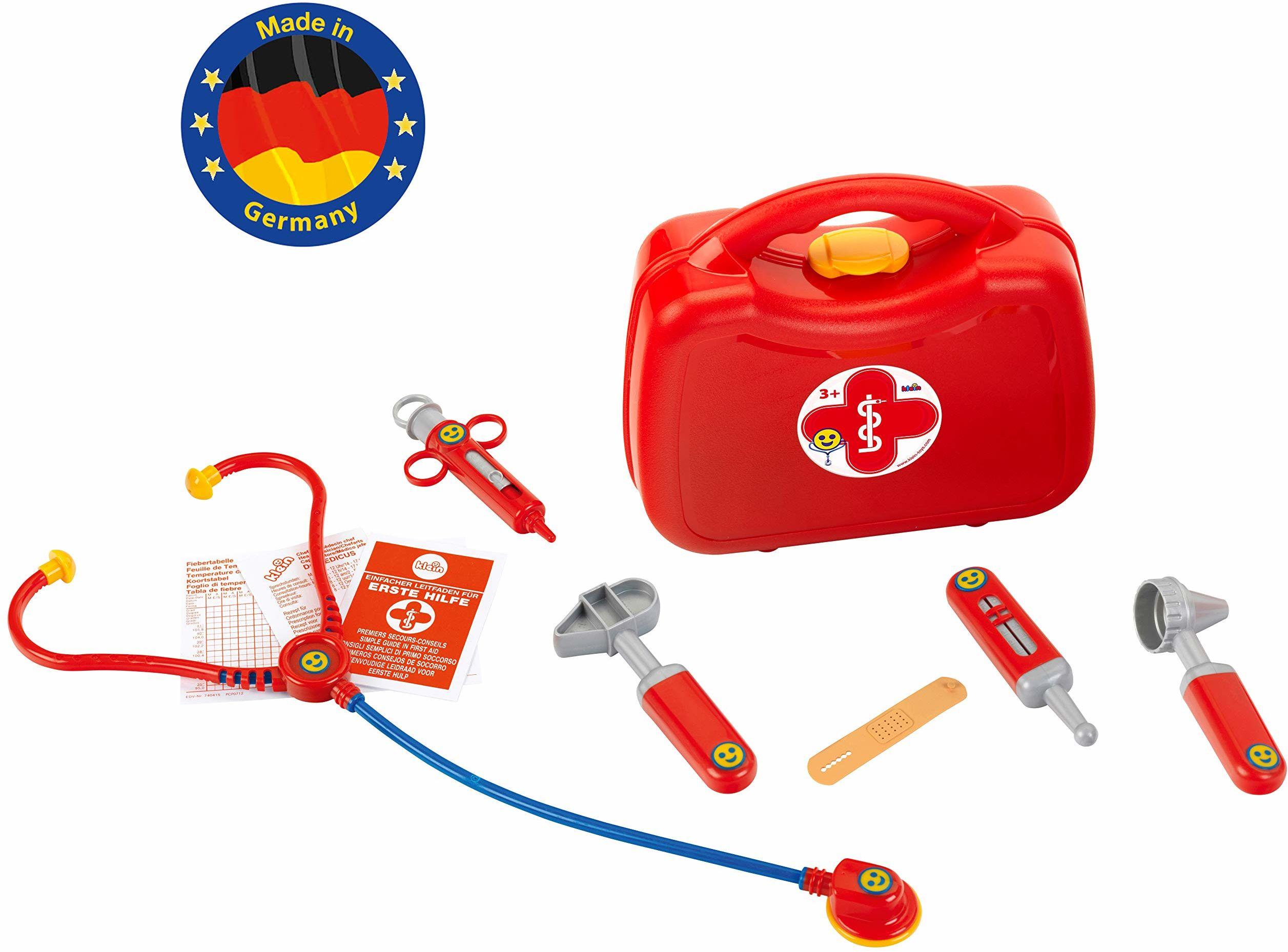Theo Klein 4265 walizka lekarska z akcesoriami, 10-częściowa