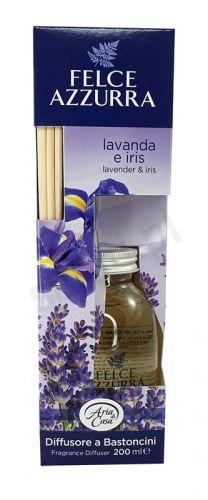 Felce Azzurra Lawenda i Irys - Odświeżacz powietrza z patyczkami (200ml)