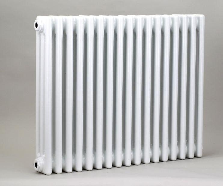 Grzejnik pokojowy retro - 3 kolumnowy, 600x600, biały/ral - biały