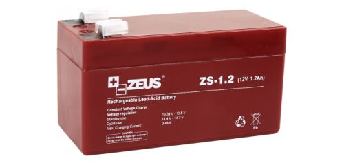 ZS-1.2 AKUMULATOR 12V/1.2AH - ZEUS
