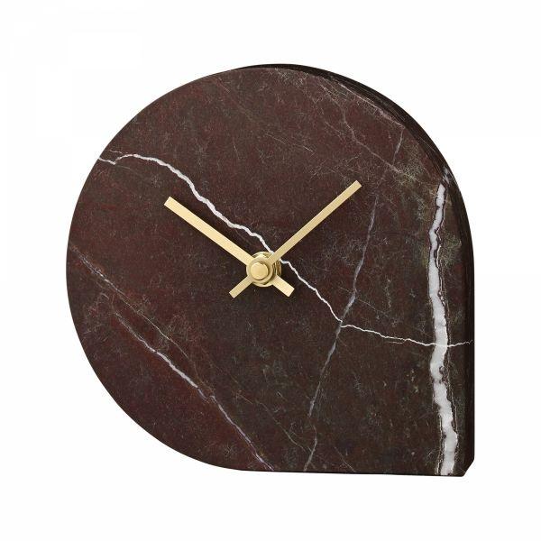 AYTM - STILLA Marmurowy Zegar Stołowy - Bordowy