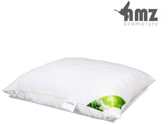 Poduszka antyalergiczna AMZ Bamboo, Kolor - biały, Rozmiar - 50x60, Poduszka - pikowana NAJLEPSZA CENA, DARMOWA DOSTAWA