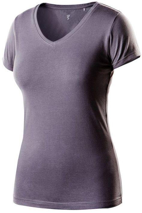 T-shirt damski ciemnoszary, rozmiar XXL 80-610-XXL