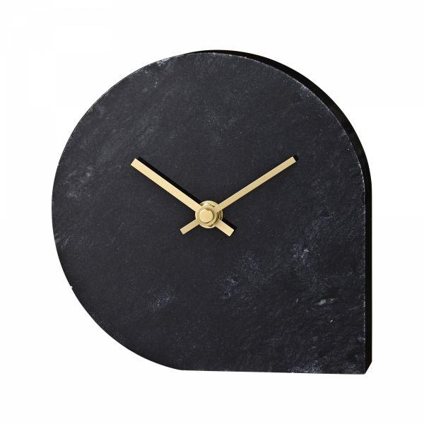AYTM - STILLA Marmurowy Zegar Stołowy - Czarny