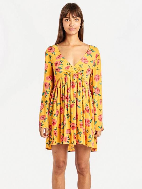 Billabong TAKE TODAY GOLDEN GLOW krótkie sukienki - S