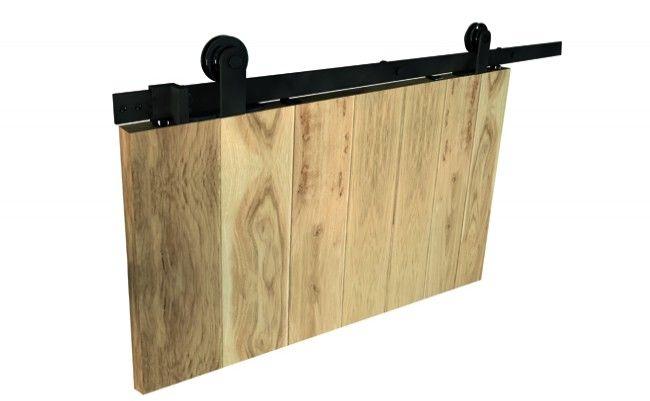 Zestaw okuć do drzwi przesuwnych Design Line LUNA, kolor czarny (prowadnica L-2000 mm, drzwi 850-1050 mm / 35-45 mm)