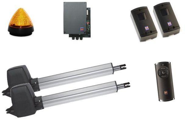 ZESTAW: napęd RotaMatic P 2 seria 3 BiSecur (skrzydło do 2500 mm, do 400 kg) + pilot HS 5 BS (z funkcją sprawdzania statusu bramy) + fotokomórki EL 301 + lampka LED SLK